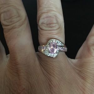 💗 sterling silver pink sapphire ring
